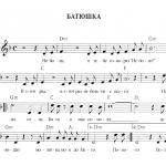 Батюшка - ноты песни