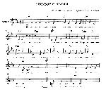 Голубое с белым - ноты песни